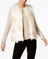 I.N.C. Multi Patchwork Faux-Fur Vest, Created for Macy's