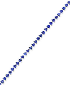 Tanzanite Royalé by EFFY® Tanzanite Tennis Bracelet (7-3/8 ct. t.w.) in 14k White Gold