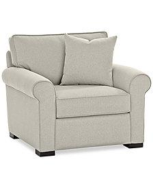 "Astra 42"" Fabric Armchair, Created for Macy's"