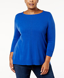 Karen Scott Plus Size Luxsoft Rolled-Neck Sweater, Created for Macy's