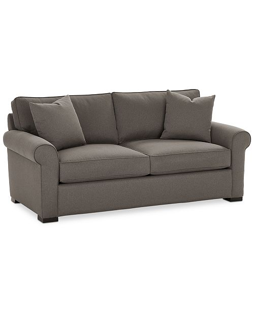 "Macys Sofa: Furniture Astra 79"" Fabric Apartment Sofa, Created For"
