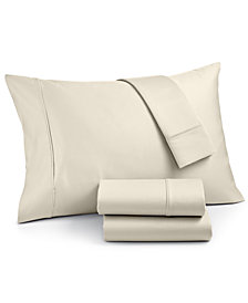 AQ Textiles Landry 1200 Thread Count Cotton 4-Pc. King Extra Deep Pocket Sheet Set