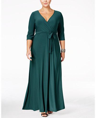 Love Squared Plus Size Faux Wrap Maxi Dress Dresses