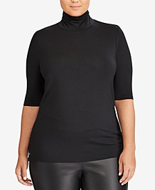 Plus Size Lightweight Turtleneck Sweater