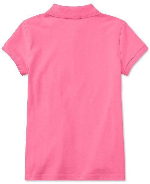 378671df Polo Ralph Lauren Big Girls Stretch Mesh Polo Shirt & Reviews ...