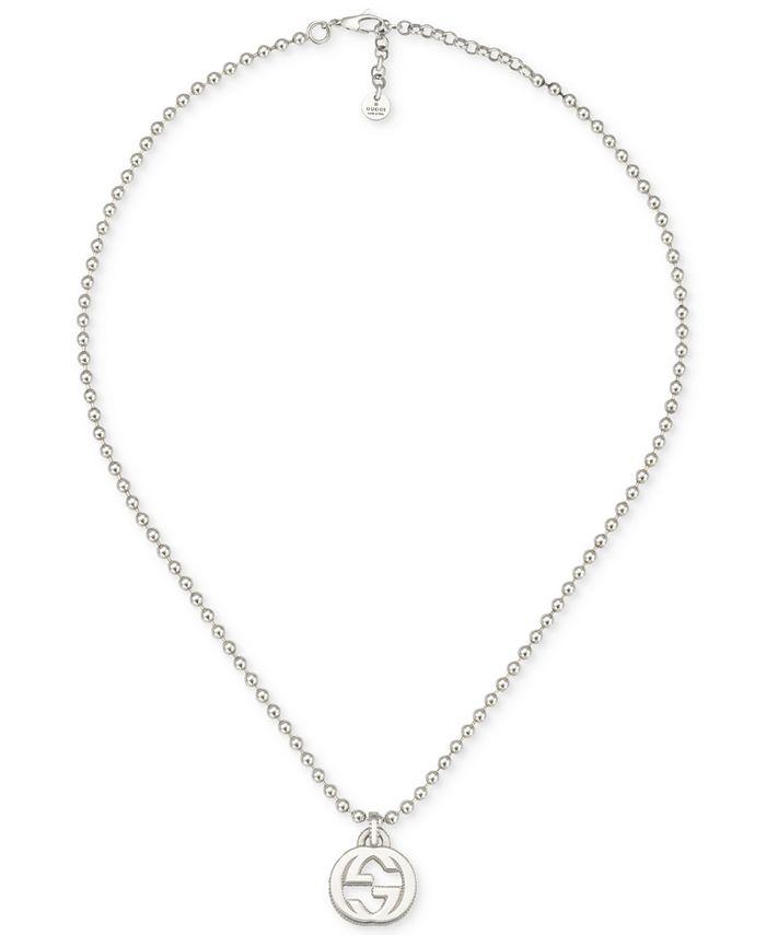 Gucci - Women's Logo Pendant Necklace in Sterling Silver YBB47921900100U