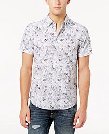 GUESS Men's Skull-Print Shirt
