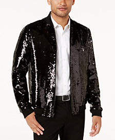 I.N.C. Men's Sequin Bomber Jacket, Created for Macy's