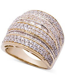 Wrapped in Love™ Diamond Dome Statement Ring (2 ct. t.w.) in 14k Gold, Created for Macy's