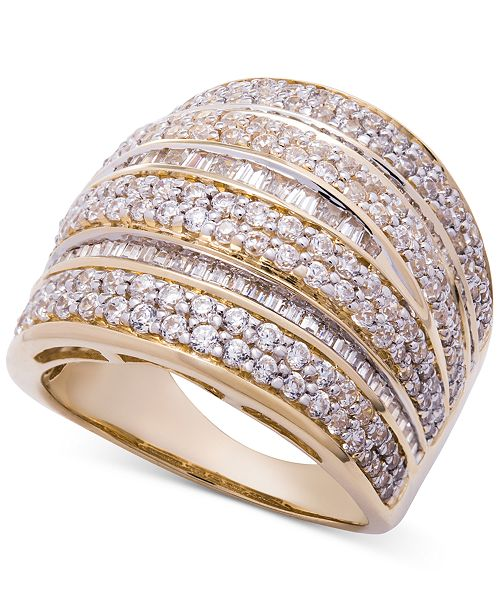 Wrapped in Love Diamond Dome Statement Ring (2 ct. t.w.) in 14k Gold, Created for Macy's