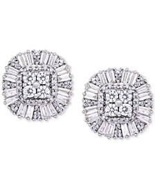 Diamond Cluster Stud Earrings (1 ct. t.w.) in 14k Gold, Created for Macy's