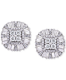 Wrapped in Love™ Diamond Cluster Stud Earrings (1 ct. t.w.) in 14k Gold, Created for Macy's