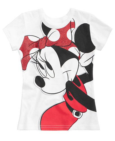 Disney's® Minnie Mouse Bow Cotton T-Shirt, Little Girls