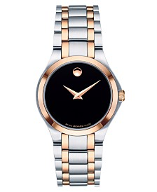 Movado Women's Swiss Superbuy Two-Tone Stainless Steel Bracelet Watch 28mm, Created for Macy's