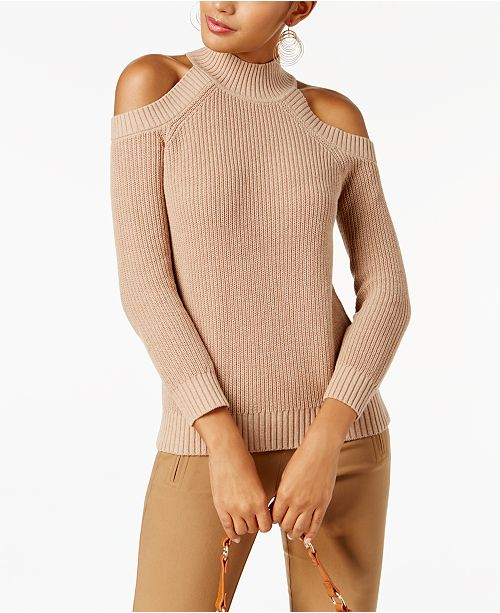 INC International Concepts I.N.C. Cold-Shoulder Sweater, Created for Macy's