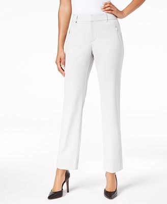 Charter Club Petite Zip-Pocket Ankle Pants, Created for Macy's