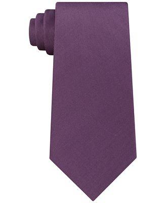 Calvin Klein Men's Vertical Twill Solid Silk Tie