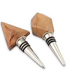 CLOSEOUT! Thirstystone 2-Pc. Wood Bottle Stopper Set