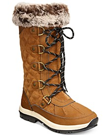 Women's Gwyneth Quilted Lace-Up Cold-Weather Waterproof Boots