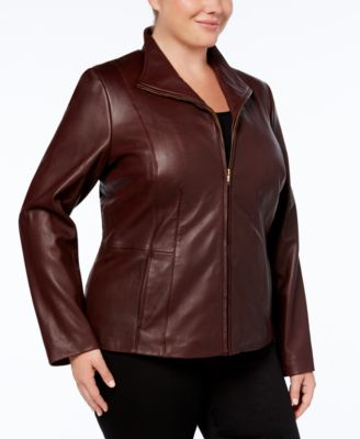 Signature Plus Size Leather Jacket