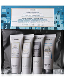 Receive a Free 4-Pc. The Skin Soothers Nourishing Greek Yoghurt Travel Set with any $45 KORRES Purchase! (A $29 Value!)