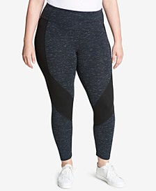Plus Size High-Waisted Colorblocked Leggings