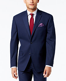 Sean John Men's Classic-Fit Stretch High Blue Glen Plaid Suit Jacket