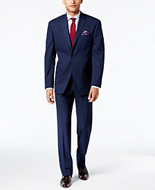 Sean John Men's Classic-Fit Stretch High Blue Glen Plaid Suit Separates