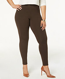 HUE® Plus Size Women's Cotton Leggings, Created for Macy's