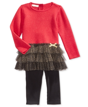 First Impressions 2Pc Peplum Sweater Tunic  Leggings Set Baby Girls (024 months) Created for Macys