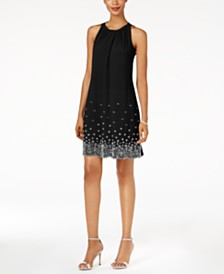 MSK Beaded Shift Dress