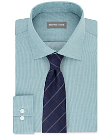 Michael Kors Men's Textural Dress Shirt & Grid Tie