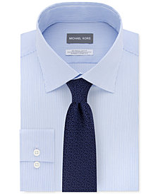 Michael Kors Men's Fine Stripe Dress Shirt & Boteh Pattern Tie