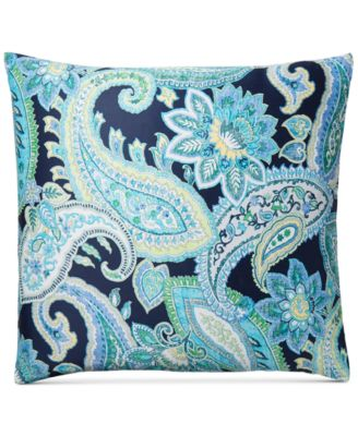 Multi Paisley Cotton European Sham, Created for Macy's