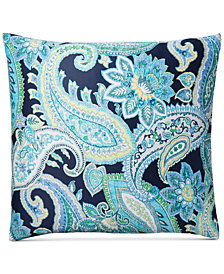 Charter Club Damask Designs Multi Paisley Cotton European Sham, Created for Macy's