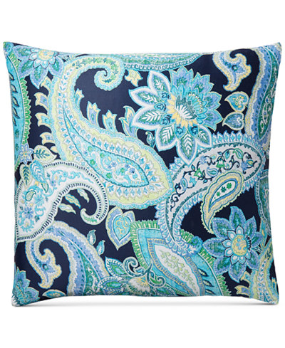 Charter Club Damask Designs Multi Paisley Cotton European Sham, Created for Macy's