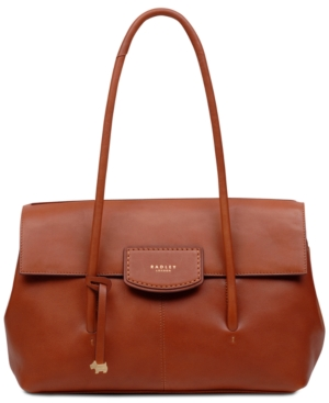 Image of Radley London Burnham Beeches Flap Leather Shoulder Bag