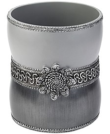 Braided Medallion Granite Wastebasket