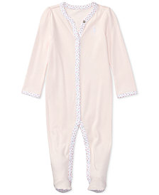 Ralph Lauren Interlock Stretch Coverall, Baby Girls
