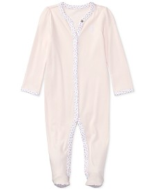 Ralph Lauren Baby Girls Interlock Stretch Coverall