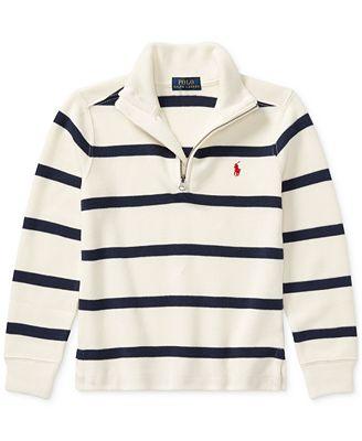 Polo Ralph Lauren Ralph Lauren Striped Half Zip Sweater Toddler
