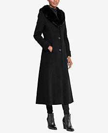 Lauren Ralph Lauren Faux-Fur Collar-Maxi Coat
