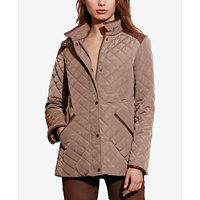 Lauren Ralph Lauren Petite Faux-Leather Quilted Jacket