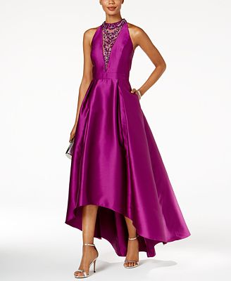 Adrianna Papell Embellished High Low Gown Dresses Women Macy S