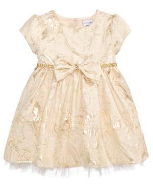 Sweet Heart Rose Metallic Brocade Dress Baby Girls (024 months)