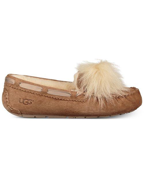 56675faa38 UGG® Women s Dakota Moccasin Pom Pom Slippers   Reviews - Slippers ...
