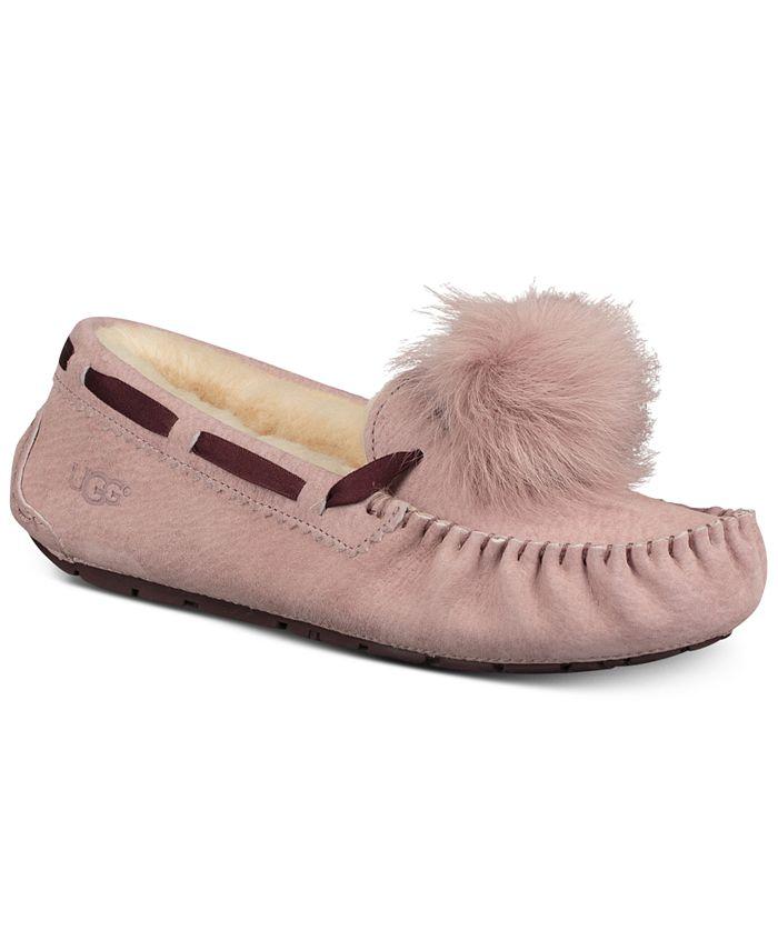 UGG® - Dakota Moccasin Pom Pom Slippers