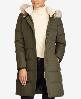 Lauren Ralph Lauren Faux Fur Down Coat Coats Women Macys