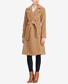 Lauren Ralph Lauren A-Line Wrap Coat