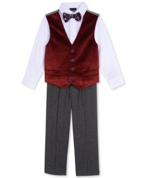 Nautica 4Pc Vest Shirt Pants  Bowtie Set Toddler Boys (2T5T)